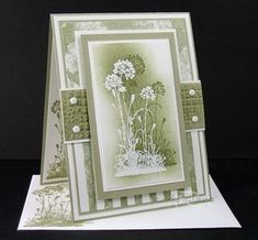 Stampin Up Shadow Stampin. Made by Roxie, this card is beautiful.