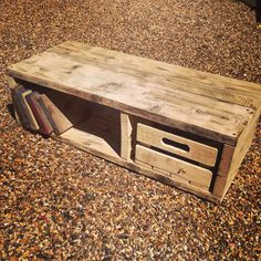 Reclaim scaffold wood upcycled into a tv unit this would also work as a coffee table