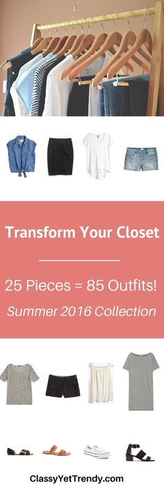 Transform your closet with The Minimalist Capsule Wardrobe: Summer 2016 Collection. Neutral color urban styles with both casual and dressy outfits are featured in this ebook.