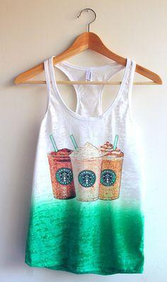 Cute Starbucks Tie Dye Tank Top - Yotta Kilo