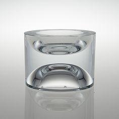 TAPIO WIRKKALA - Glass bowl for Iittala 2008, limited edition, Finland. [h. 11,5 cm, Ø 15,3 cm] Cup Design, Design Art, Clear Glass, Glass Art, Kosta Boda, Stained Glass Designs, Finland, Art Deco, Ceramics