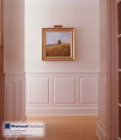 A simple hallway can be given great architecture detail with Wainscoting! Visit our website at:  http://www.wainscotsolutions.com/