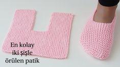 Easy Garter Stitch Slippers Free Knitting Pattern - Video: Easy One Piece Garter Stitch Slippers Free Knitting Pattern for men and women Crochet Bolero, Crochet Socks, Knitting Socks, Free Knitting, Baby Knitting, Knit Crochet, Crochet Slipper Pattern, Crochet Poncho Patterns, Easy Knitting Patterns