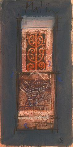 UNTITLED  40 x 20 cm gouache 14 aug 2007 c