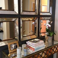 Entryway Or Dining Room Idea Like The Use Of Multiple Mirrors Placed Close