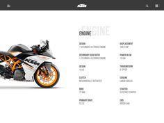 KTM RC 390 – Landing Page Animation