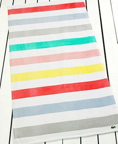 Lacoste Color Block Beach Towel