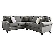 Jc perreault salon traditionnel decor rest sofa for Leon divan sectionnel