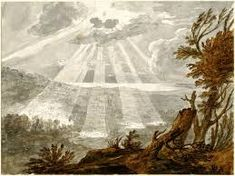 Alexander Cozens (Landscape with sun breaking from clouds) (c pen and black ink, with grey wash and watercolour on paper, 21 x cm, The British Museum Lighting Companies, British Museum, Large Art, Art Reproductions, Art For Sale, 18th Century, Art History, Landscape Paintings, Watercolor Art