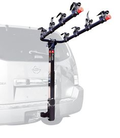 Allen Sports - Deluxe Four Bike Hitch Rack-Allen's patented tie-down system works with a wide range of bike styles and sizes. Our tie-down cradles individually secure your bicycles to the rack, protecting both your bikes and vehicle.Allen's easy-to-u Hitch Mount Bike Rack, Best Bike Rack, Bicycle Rack, Cool Bicycles, Cool Bikes, Bike Carriers For Cars, 4 Bike Carrier, Cycle Carrier, Shopping