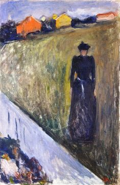Woman in Evening Landscape (Edvard Munch)