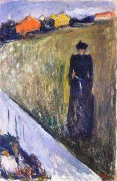 Woman in Evening Landscape (Edvard Munch)