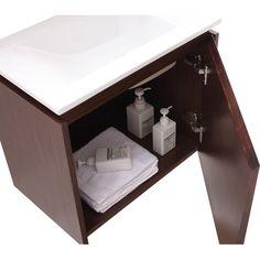 "Found it at Wayfair - Milo 22"" Single Wall Mounted Bathroom Vanity Set"