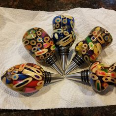 Colored pencil and alumilite resin bottle stopper by Billy Coleman Wine Bottle Stoppers, Wine Bottle Holders, Wood Turning Projects, Metal Projects, Pen Turning, Wood Post, Resin Casting, Wood Resin, Woodturning