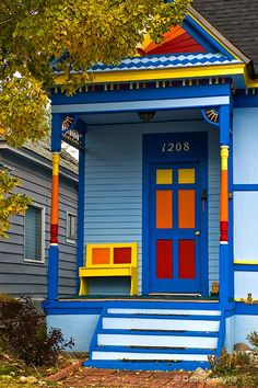 COLORFUL FRONT PORCH WELCOME