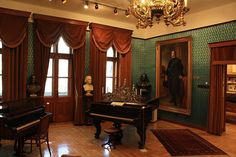 Franz Liszt's pianos from his apartment in Budapest.
