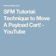 SFM Tutorial: Technique to Move A Payload Cart! - YouTube Tank Movie, Proof Of Concept, Cart, Youtube, Covered Wagon, Youtubers, Youtube Movies, Strollers