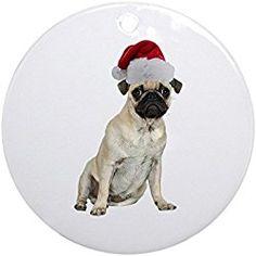 cafepress christmas pug ornament round round holiday christmas ornament pug christmas