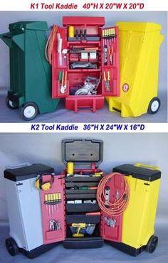 Tool Kaddy Tool Organizer tool cart, tool kaddie, kaddies inc, tool storage Price: $299.95.