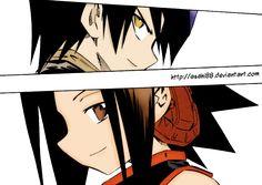 Manga: Shaman King Lineart: Hiroyuki Takei Color: Asahi88 Characters: Ren Tao, Yoh Asakura Chapter 269  Page 09 Shaman King © Hiroyuki Takei