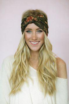 Grunge Lace Turban Headband Floral Stretchy Lace by ThreeBirdNest Faixas De  Cabelo d827f1ad40b