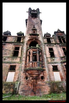 Victorian era lunatic asylums were typically foreboding structures. But Gartloch Hospital on the outskirts of Glasgow took this to the extreme and looks like the setting of a Gothic horror movie. While some wings of the abandoned hospital have been converted into apartments, the main admin building remains derelict. Glasgow, Scotland.