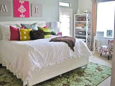 White Bedroom With Pop Of Color image result for pallet daybed | my office | pinterest | pallet