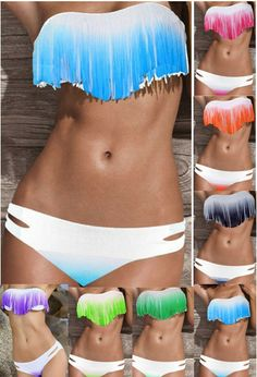 Aliexpress.com : Buy 2013 New Push Up Boho Dolly Fringe Tassel Bikini For Women, Strapless Padded Swimsuit Swimwear Beach Wear Monikini SML from Reliable 2013 top women fashion Padded boho tasse Bikini sexy fringe Swimwear hot sales bikini set famous cheap bathing suit suppliers on Women's Fashion Clothing  Dress Shop $12.99
