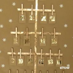 Super easy way to make an Advent calendar for your family.