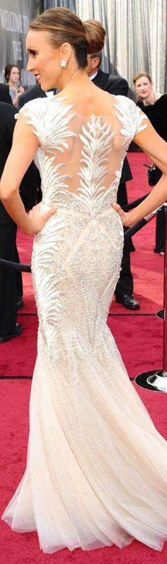 red carpet fashion dress #glam #glitter #back