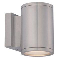 WAC Lighting Tube WS-W260 Outdoor Wall Sconce - WS-W2604-AL