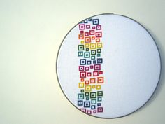 rainbow confetti modern cross stitch by wallwork