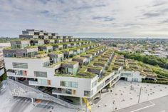 Apartment building in Copenhagen, Denmark is part of Apartment architecture - Social Housing Architecture, Brick Architecture, Sustainable Architecture, Residential Architecture, Resorts In Philippines, Terrace House Exterior, Haus Am Hang, Terrace Building, French Style Homes