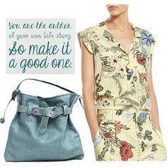 Spring fashion by borsebyd on Polyvore featuring moda, Gucci, Blue, bags, handmade and BorsebyD