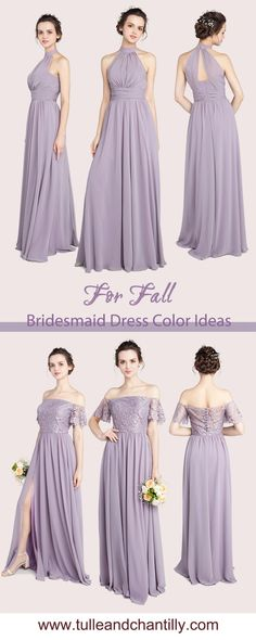 Bridesmaid dresses on budget from tulleandchantilly for fall wedding color inspiration Purple Bridesmaid Dresses, Glitter Roses, Fall Wedding Colors, Long Shorts, Wedding Themes, Color Inspiration, Lavender, Tulle, Palette