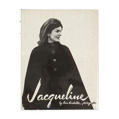 """Jacqueline"" is a stunning black and white book full of candid photos of Jacqueline Kennedy Onassis and her children as taken by the notorious photographer Ron Galella"
