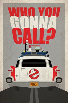 Ghostbusters Poster - Ecto-1