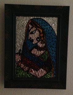 Rajput Princess - Glass Painting
