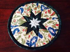 Amish Floral Star in Common Quilted Pot Holder