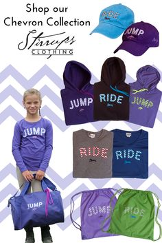 Equestrian Style - Shop our Chevron looks! Ladies, Youth, and Girls chevron designs are available at your local tack store!