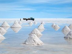 Salar de Uyuni (or Salar de Tunupa) is the world's largest salt flat at 10,582 square kilometers (4,086 sq mi). It is located in the Potosí and Oruro departments in southwest Bolivia, near the crest of the Andes, and is elevated 3,656 meters (11,995 ft) above the mean sea level.[1]