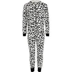 Girls black leopard print all-in-one - Loungewear / All in ones - girls