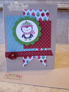 Have a Jolly Christmas Card with Stampin' Up! stamp set-No Peeking  http://stampingcountry.typepad.com/stamping_country/2012/11/no-peeking.html