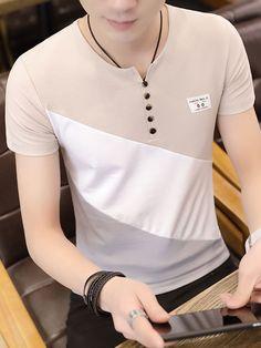 Camisa camel. Polo Shirt Design, Tee Shirt Designs, Mens Casual Dress Outfits, Fashion Outfits, Polo T Shirts, Sports Shirts, Best Casual Shirts, Teenage Boy Fashion, Camisa Polo