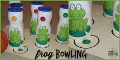 Frog Bowling- preschool fun!