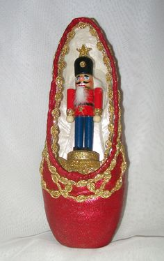 "Decorated pointe shoe inspired by the ballet, ""The Nutcracker"" by FetchingFabulous, $60.00"