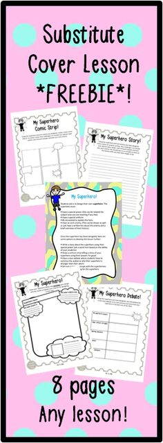Need creative, fun and educational cover lesson ideas that can be adapted for any subject and differentiated for a wide age range? This is the resource for you! This FREEBIE contains a lesson idea with a range of variable activities that can span over many lessons if needs be! No resources are necessary, but there are some fun printable worksheets that accompany the lesson theme too if you like!
