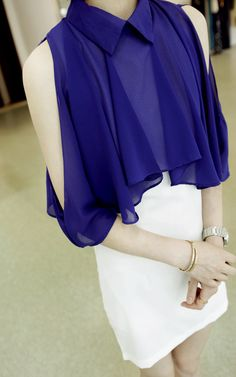 $20.13 The rain-cho Korean ladies pleated lotus leaf chiffon vest - http://zzkko.com/book/shopping?note=18493