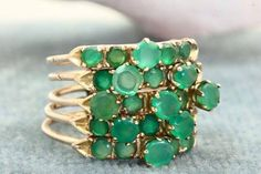 Vintage Jewelry RESERVED for CL - Emerald Gold and Pearls Bridal Hair comb vintage earrings… Emerald jewel necklace brass mayfair Jewelry Box, Jewelry Rings, Vintage Jewelry, Jewelry Accessories, Fashion Accessories, Jewelry Design, Fashion Jewelry, Jewlery, Jewelry Ideas