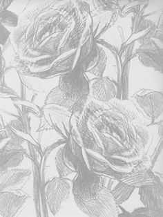 FLORIBUNDA Clarke & Clarke W0037/11 #grey #wallpaper #homedecor #interiordesign #diy #floral